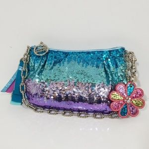 Coach Poppy Sequin Large wrislet/clutch